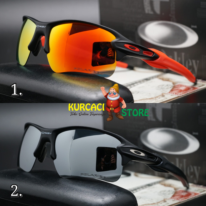 Kacamata sunglass gaya sporty pria oakley flak jacket 2.0 1d079fe47c