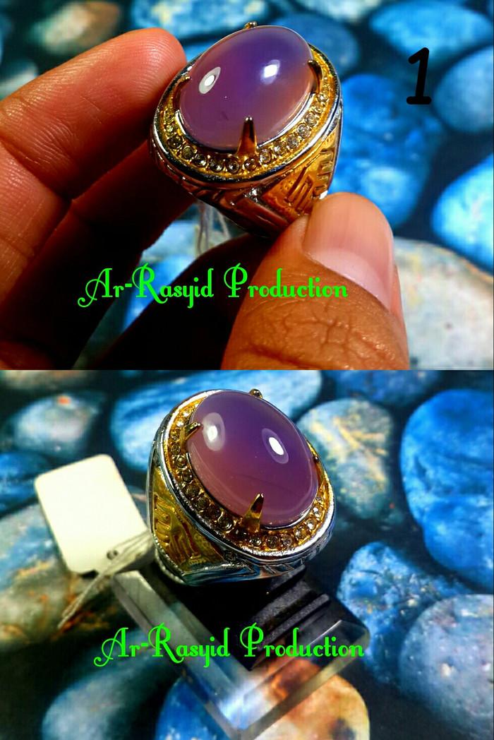 harga Cincin batu akik natural kecubung chalcedony with ring titanium Tokopedia.com