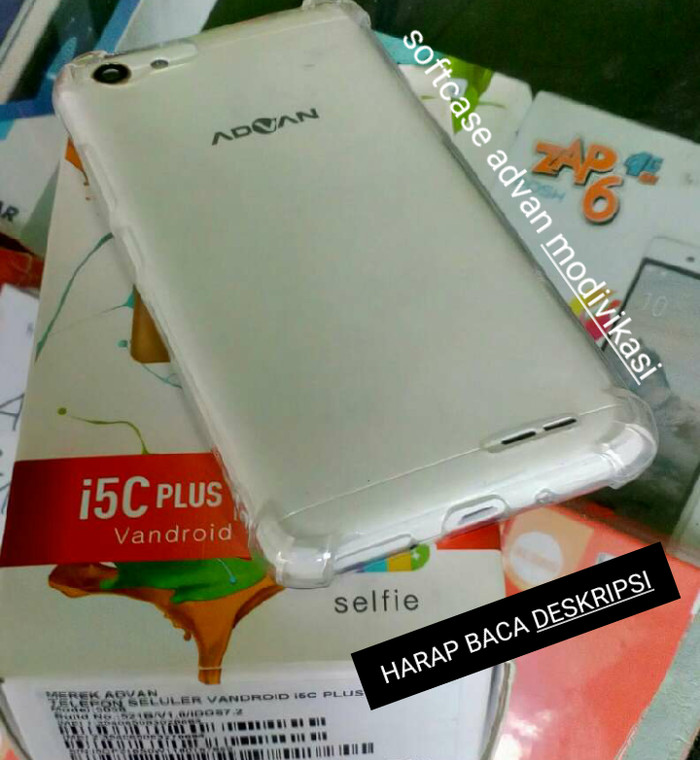 Case soft advan i5c plus anticrack casing silikon