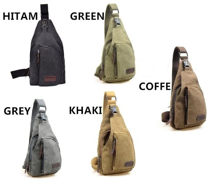 Jual n Tas selempang tas slempang pria sling bag backpack kanvas ... 6a2d5b292a