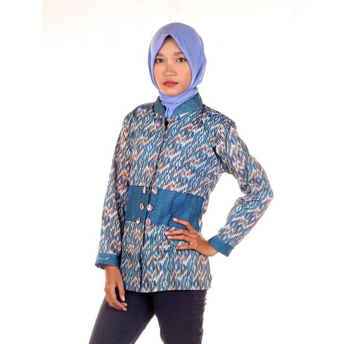 harga Blus batik | kemeja kerja wanita ussy - warna 3 Tokopedia.com