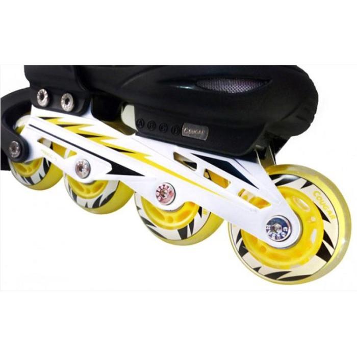 Cougar W ABEC7 MS835L ADJ Junior Inline Skate Sepatu Roda - Black a10161cd80