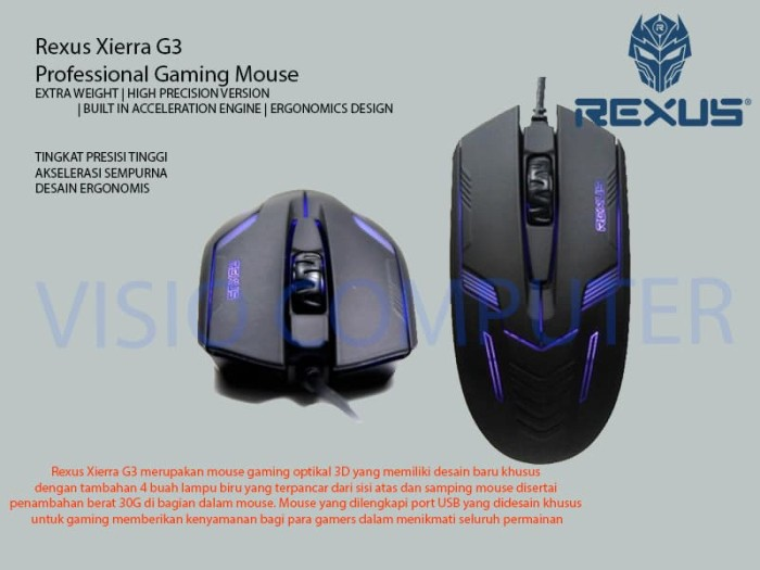 Mouse Optic G3 Rexus With LED
