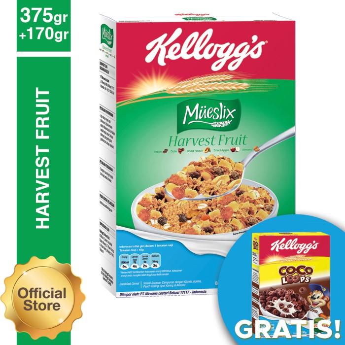mueslix harvest fruit 375g free coco loops 170g (as2p-8852756303339)