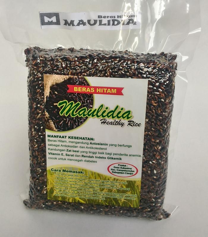 Beras hitam organik asli cianjur kemasan 2kg