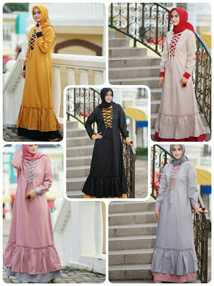 Jual Korset Maxi Dress Gamis Model Korset Longdress Maxi Gamis