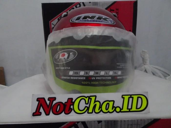 Helm Best1 INK Centro KW Supeer Maroon Gloss 2