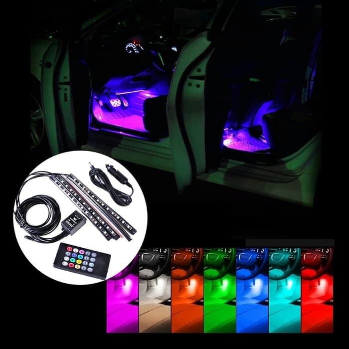 harga Lampu kolong dashboard mobil sensor suara musik Tokopedia.com