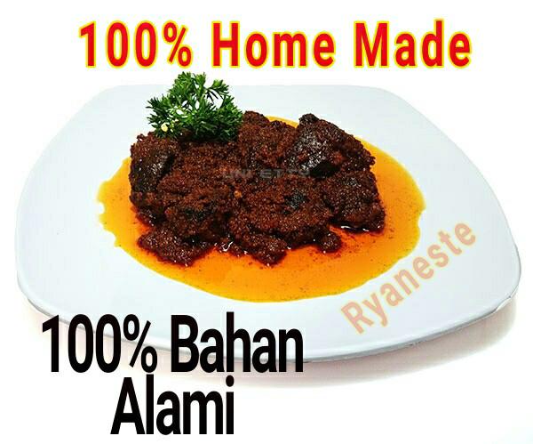 Rendang daging sapi premium rendang padang home made 100% bumbu alami