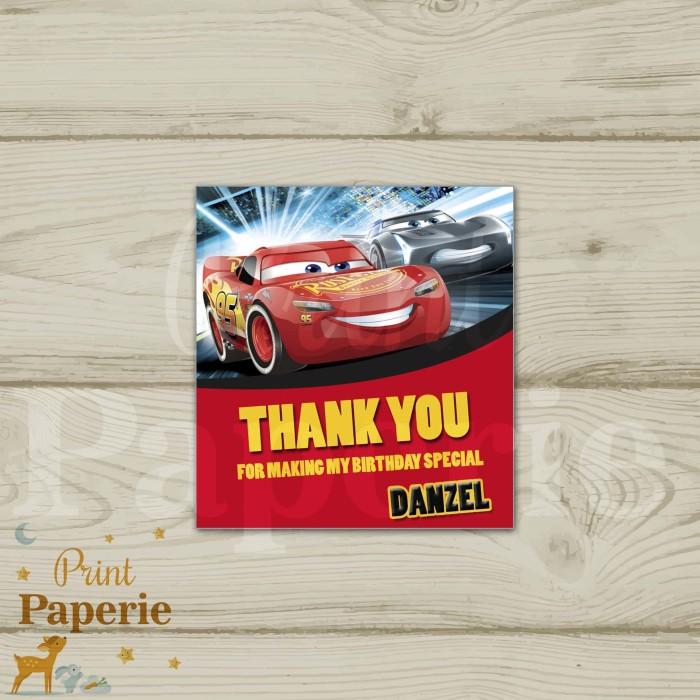 Foto Produk Thank you card CARS 3 dari print paperie