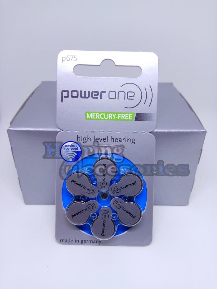 PowerOne P675-Baterai Alat Bantu Dengar (Mercury-Free) Hearing Battery