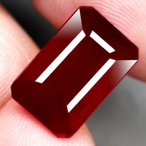 harga Rb123 natural top blood red octagon ruby 9.35 ct Tokopedia.com