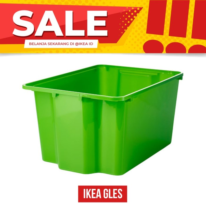 Ikea gles kotak , hijau 28x38x20 cm