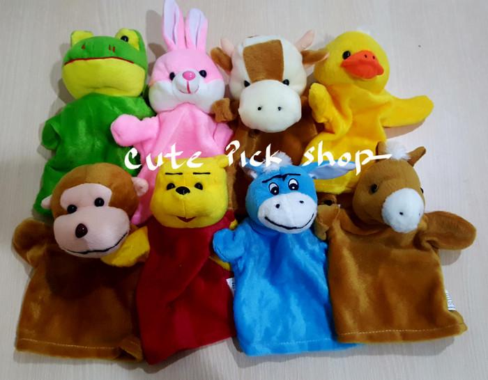 BONEKA TANGAN  HAND PUPPET  FLUFFY TOY  peraga dongeng  mainan lembut f028695d2b