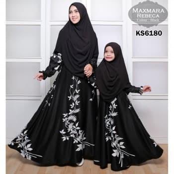 gamis couple ibu anak / baju gamis ibu dan anak / baju gamis seragam 1