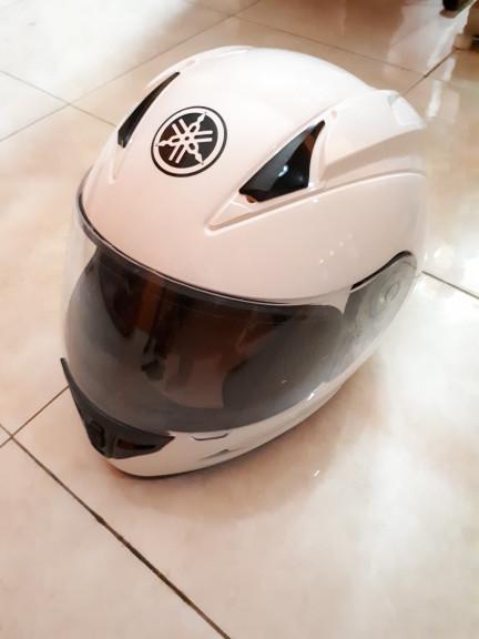 Helm Original Yamaha R15 Baru Murah - Putih