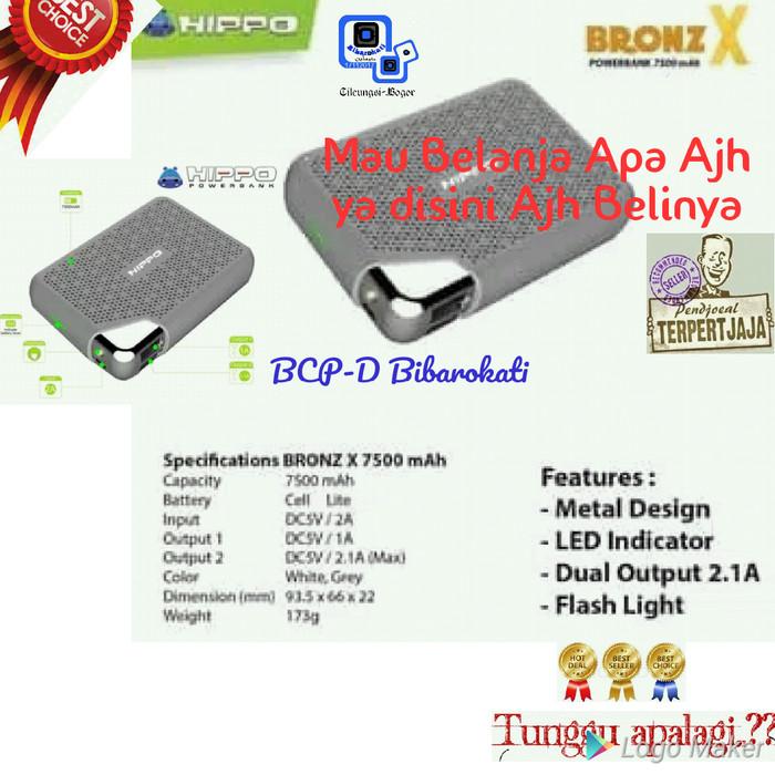 Hippo Power Bank 7500mAh Bronz X Simple Pack Garansi Resmi Hippo 1 Th - Putih