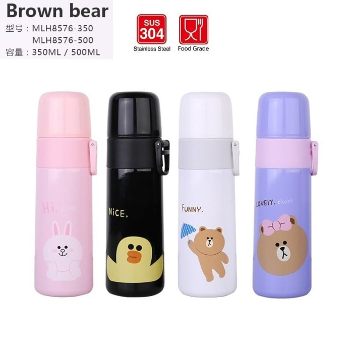 harga Botol air termos vacuum stainless steel diller line brown bear Tokopedia.com
