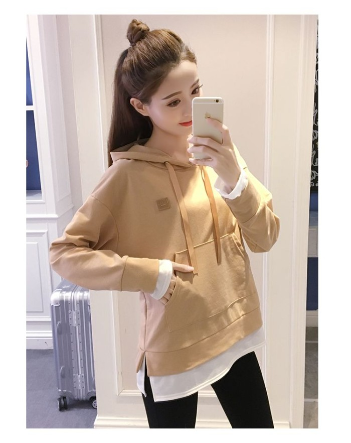 harga Baju sweater wanita khaki overseas fake two pcs (m) import original Tokopedia.com