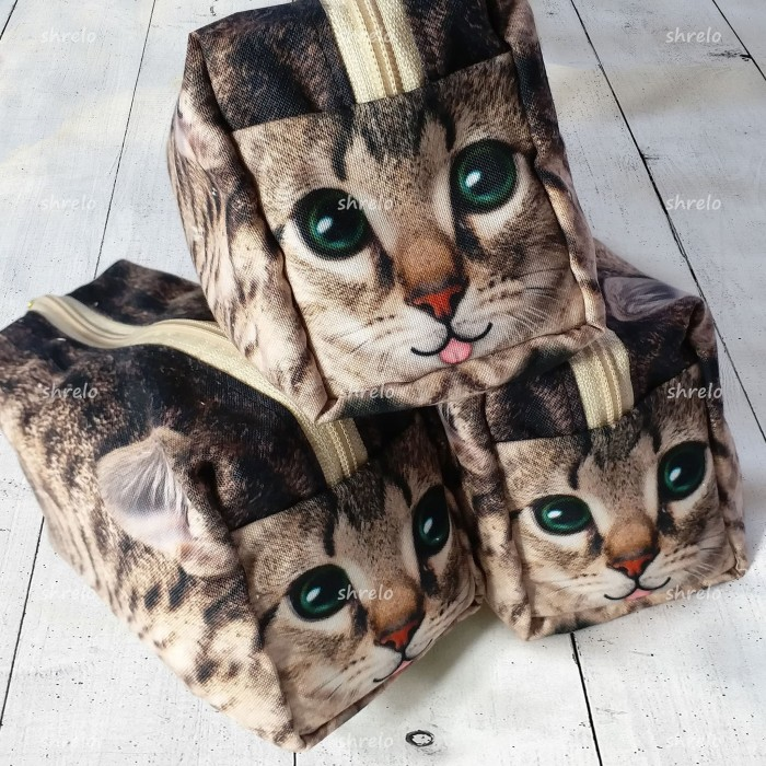 Foto Produk Pouch Make Up Kotak Kucing Lucu buat kado, make up, tempat pensil dari Flirty