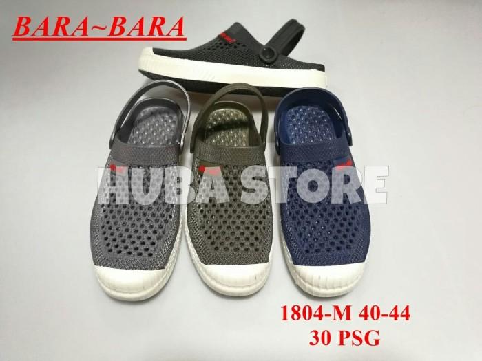 harga Huba sepatu sandal pria slip on jelly sepatu cowok slop karet 1804-m Tokopedia.com
