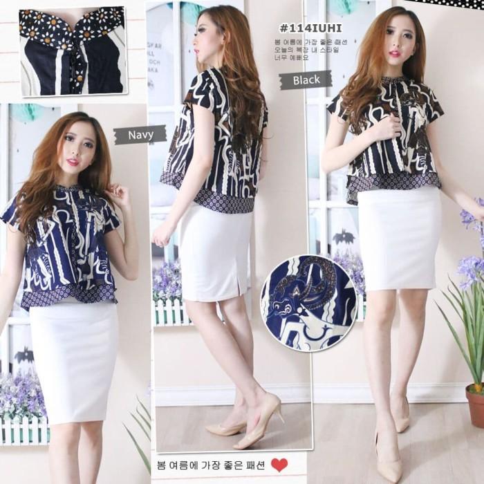harga Baju atasan wanita - blouse batik modern - atasan batik moderen Tokopedia.com