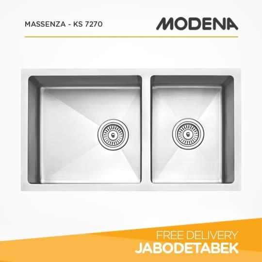 bak cuci piring modena 76cm massenza - ks 7270 (stainless steel)