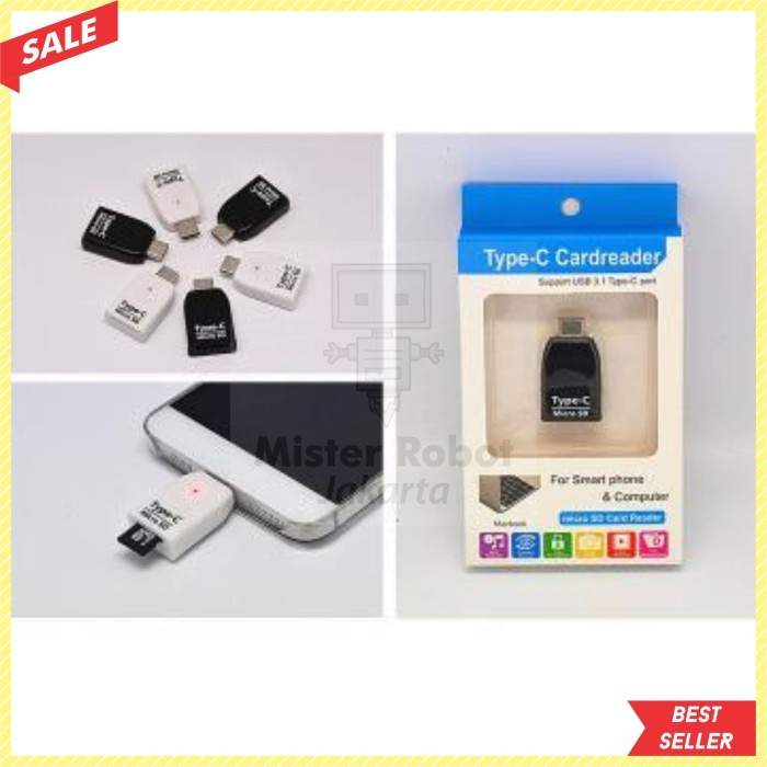 Jual Card Reader OTG USB 3 1 Type C ke Micro SD - Mister Robot Jakarta    Tokopedia
