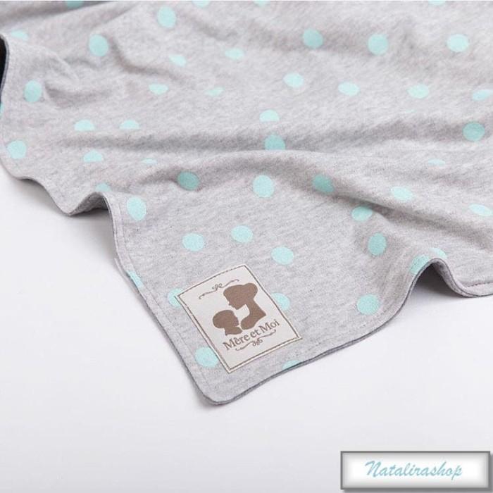harga Selimut bayi mere et moi  premium blanket - grey tosca dot Tokopedia.com