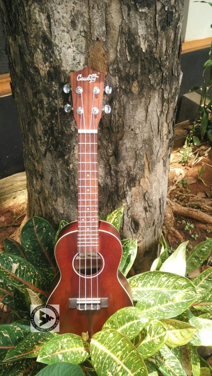 harga Cowboy ukulele concert 23 premium dark brown + softcase Tokopedia.com