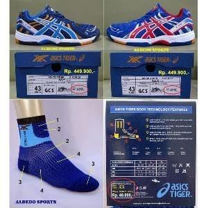 Jual PROMO TERBARU ASICS TIGER Sepatu Tennis Tenis NAVY Nike Adidas ... 33e16e1aa0