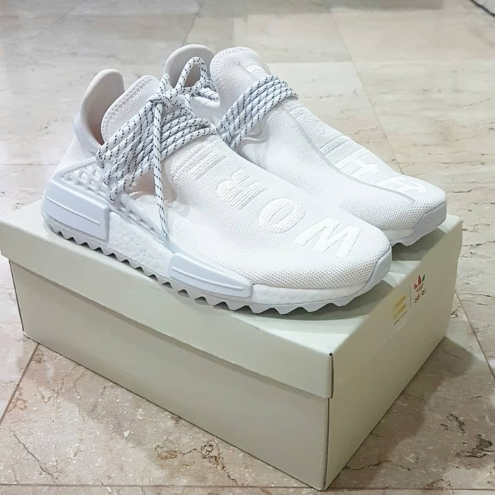 sports shoes e9ae3 8e972 Jual Adidas NMD Pharrell Williams Human Race Holi Blank Canvas White Cream  - Kota Surabaya - Sinar Megah Jaya | Tokopedia