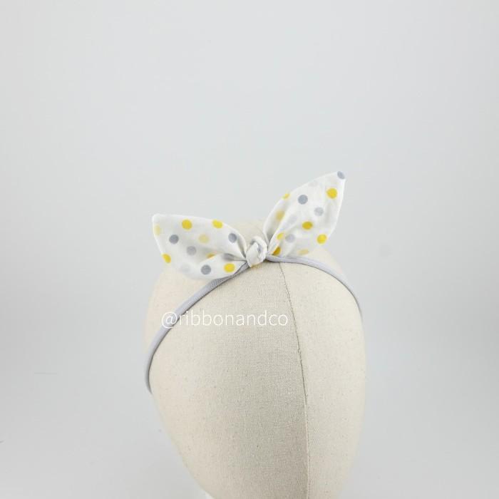 harga Bunny yellow grey dot / pita anak / pita bayi / ribbonandco Tokopedia.com