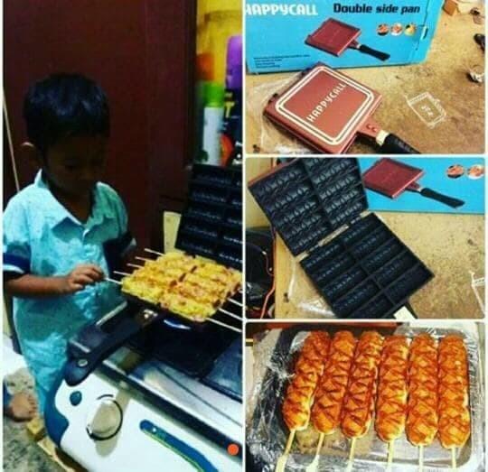 harga Cetakan kue sate wafel satay waffle double side pan happy call Tokopedia.com