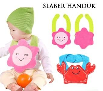 Slaber handuk karakter / slaber bayi lucu / bib bayi