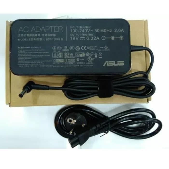 Foto Produk Charger/Adaptor Asus Rog 120w 19v 6.32a New Squre Ultra Slim Original - Hitam dari scriptechnology