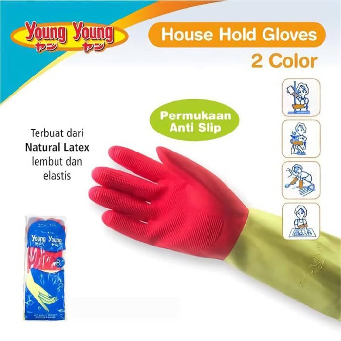 harga Young young latex gloves il sarung tangan dcolor 8.5inch karet rubber Tokopedia.com