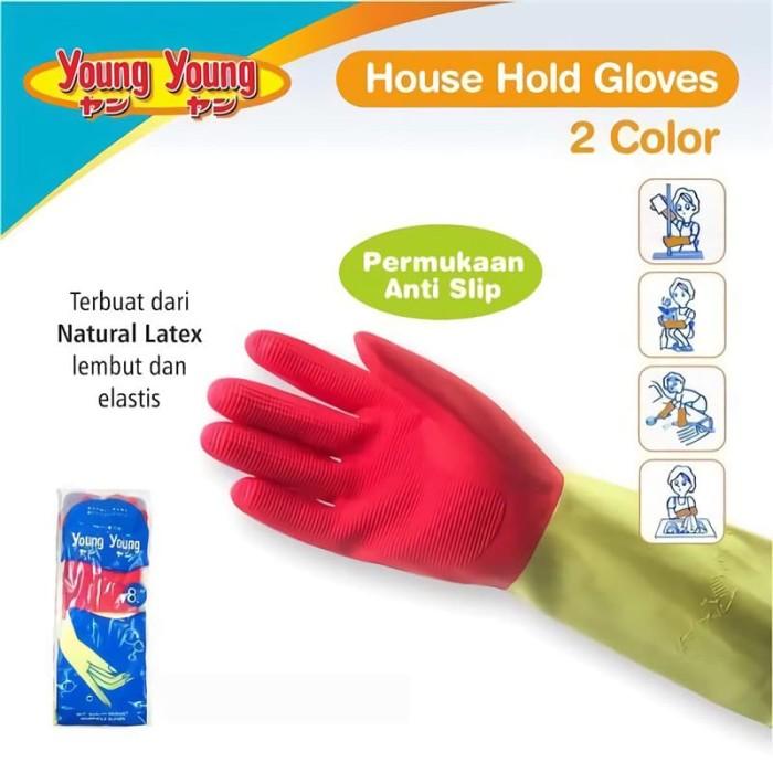 harga Young young latex gloves il sarung tangan dcolor 8inch karet rubber pi Tokopedia.com
