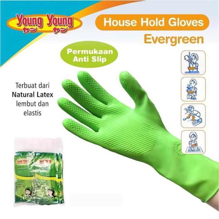 harga Young young latex gloves il sarung tangan evergreen 8inch karet rubber Tokopedia.com