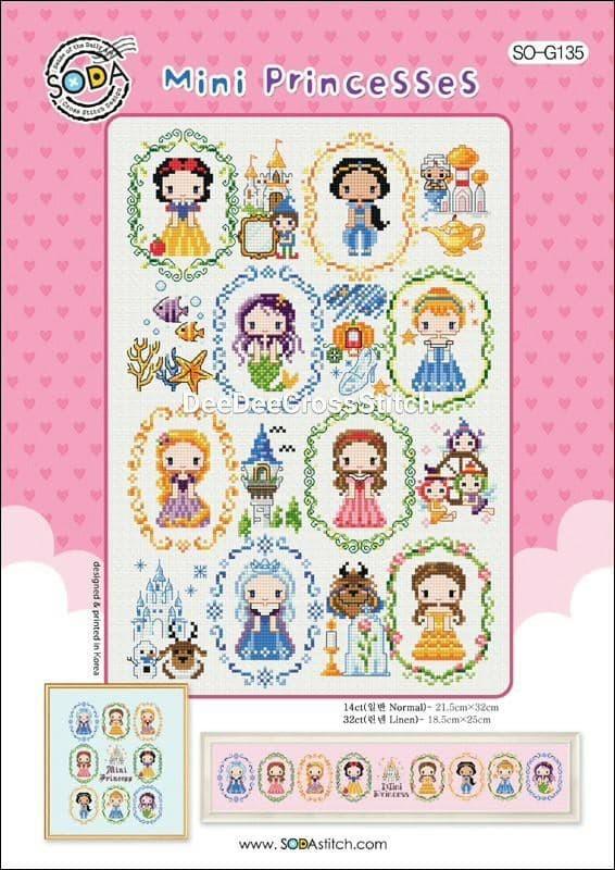harga Pola kristik original /  asli soda stitch so-g135 mini princesses Tokopedia.com