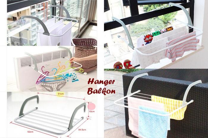 harga Hanger balkon jemuran gantung serbaguna  sepatu kaos kaki baju bayi Tokopedia.com
