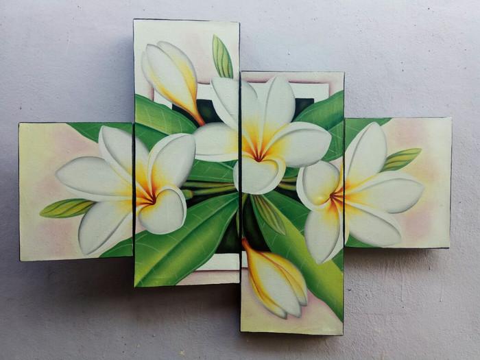 harga Lukisan bunga kamboja putih minimalis Tokopedia.com