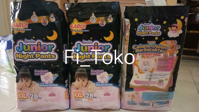 harga Mamy poko junior night pants xxl 28 pcs girls / mamypoko xxl28 Tokopedia.com
