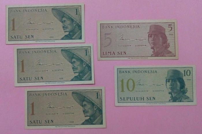 harga Paket uang kuno lima lembar/ 18 sen seri sukarelawan tahun 1964 Tokopedia.com