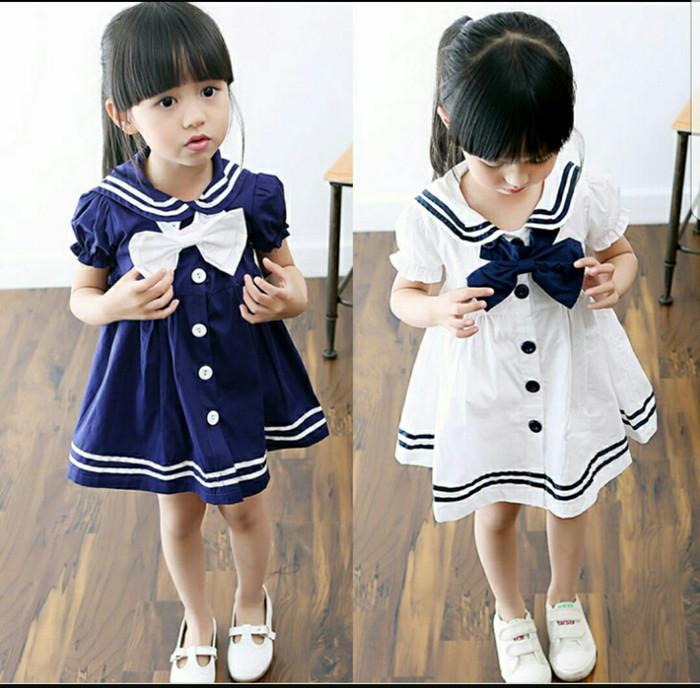 Jual Dress Sailor Kid Navy White Dress Anak Baju Anak Perempuan ... cb69b7c2db