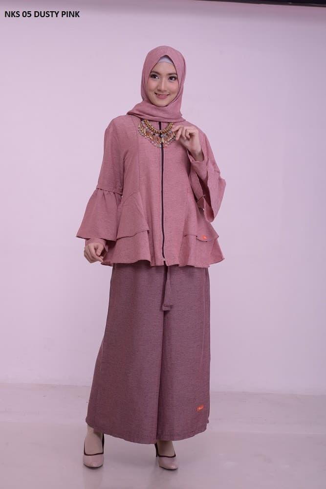 Setelan Kulot Muslim Remaja/Dewasa Perempuan Nibras NKS-05 (Pashmina)