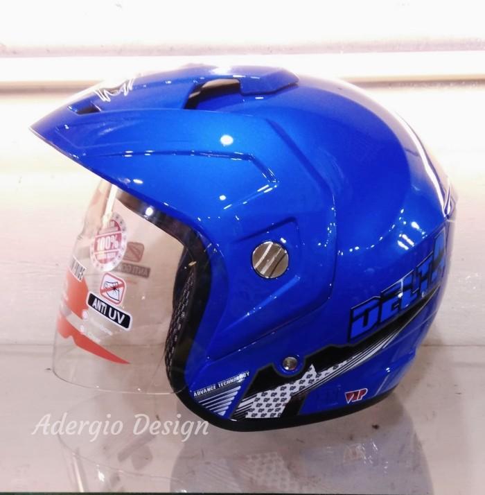 Helm GP New Delta Solid - Biru setara GM NHK INK KYT MDS 3