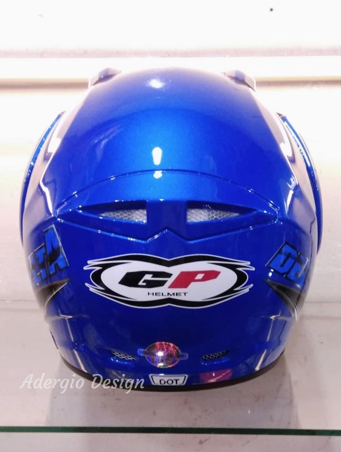 Helm GP New Delta Solid - Biru setara GM NHK INK KYT MDS 1