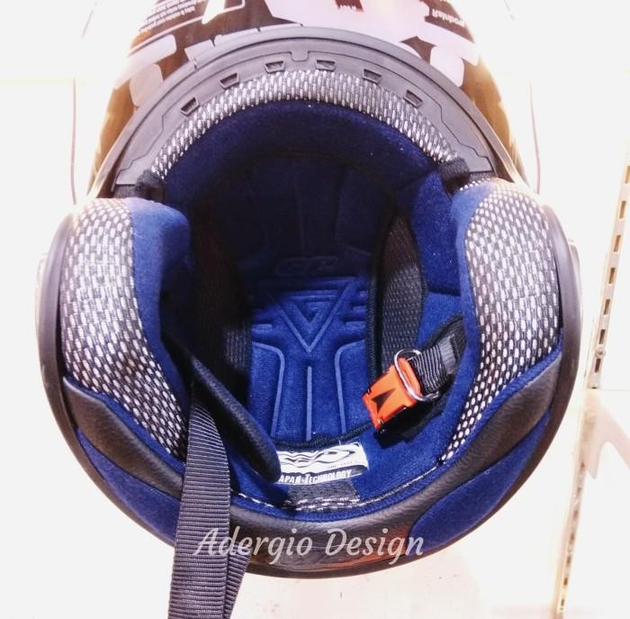 Helm GP New Delta Solid - Biru setara GM NHK INK KYT MDS 4