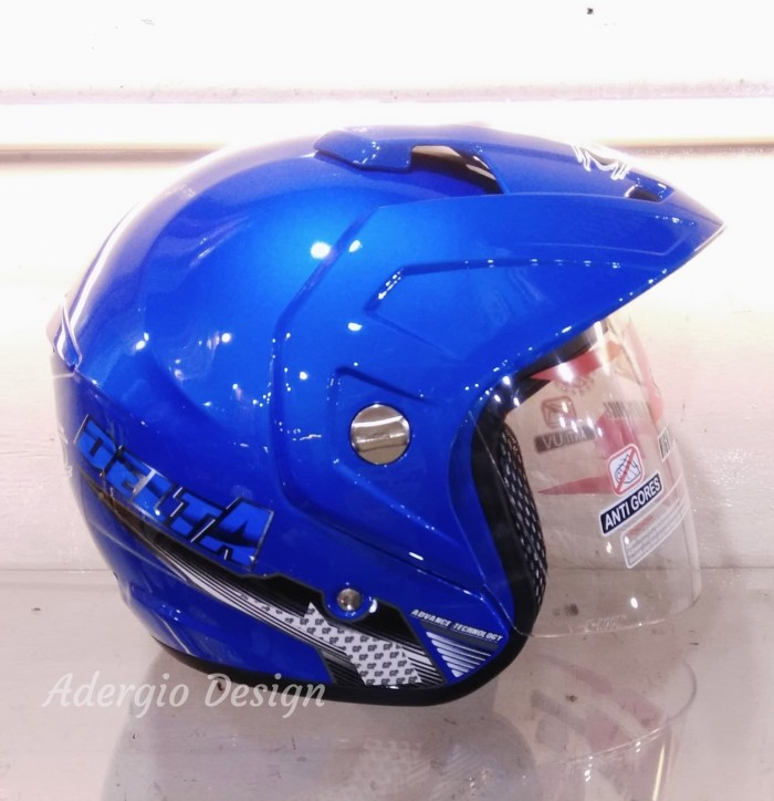 Helm GP New Delta Solid - Biru setara GM NHK INK KYT MDS 2